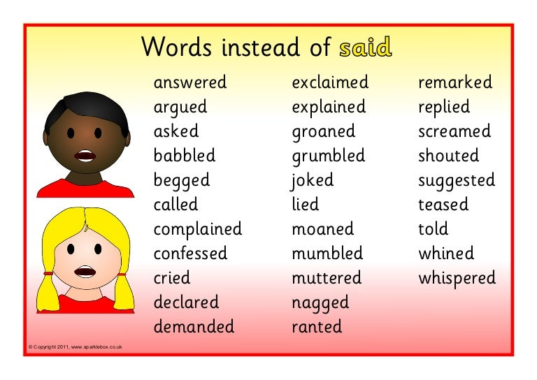 Different ways to say 'said'