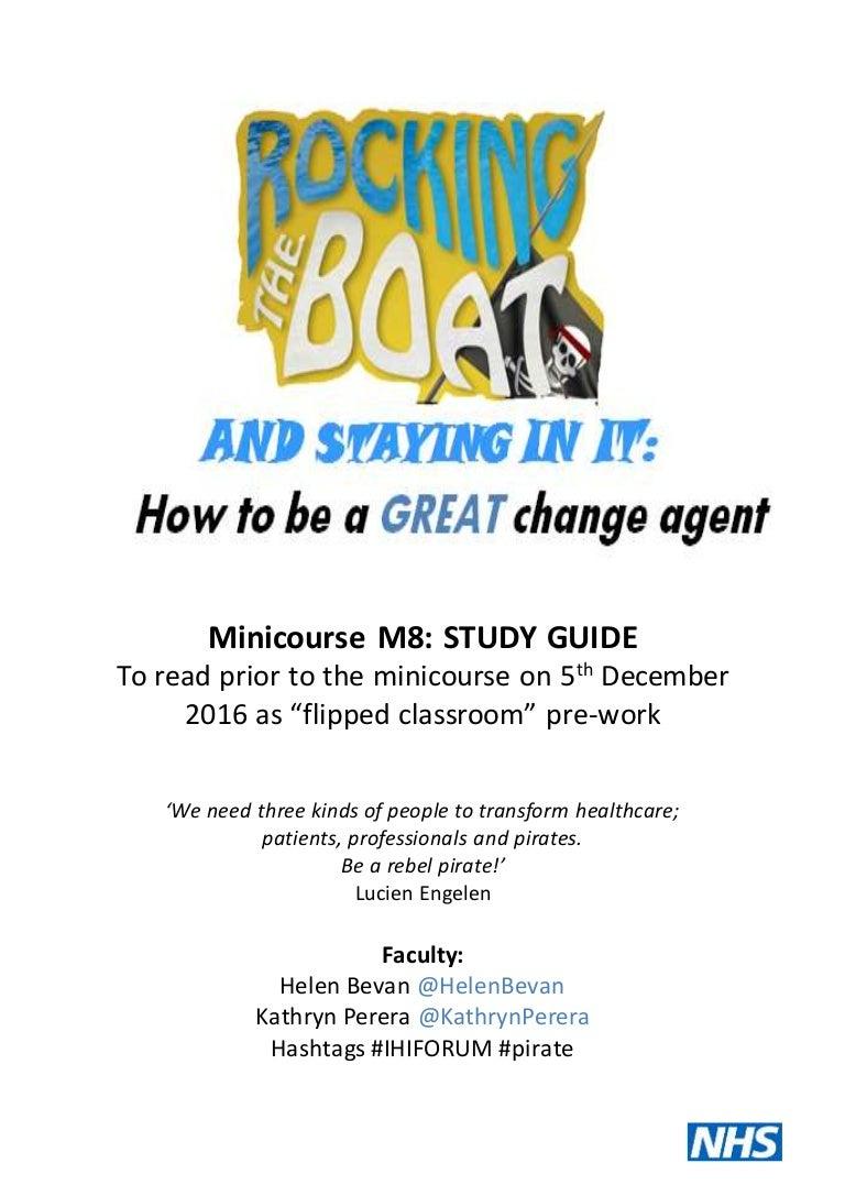 Workbooks total transformation workbook : Minicourse M8: pre-reading and workbook