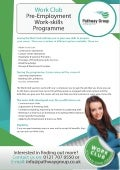 Work Club - Pathway Group (Leaflet for Service Users)