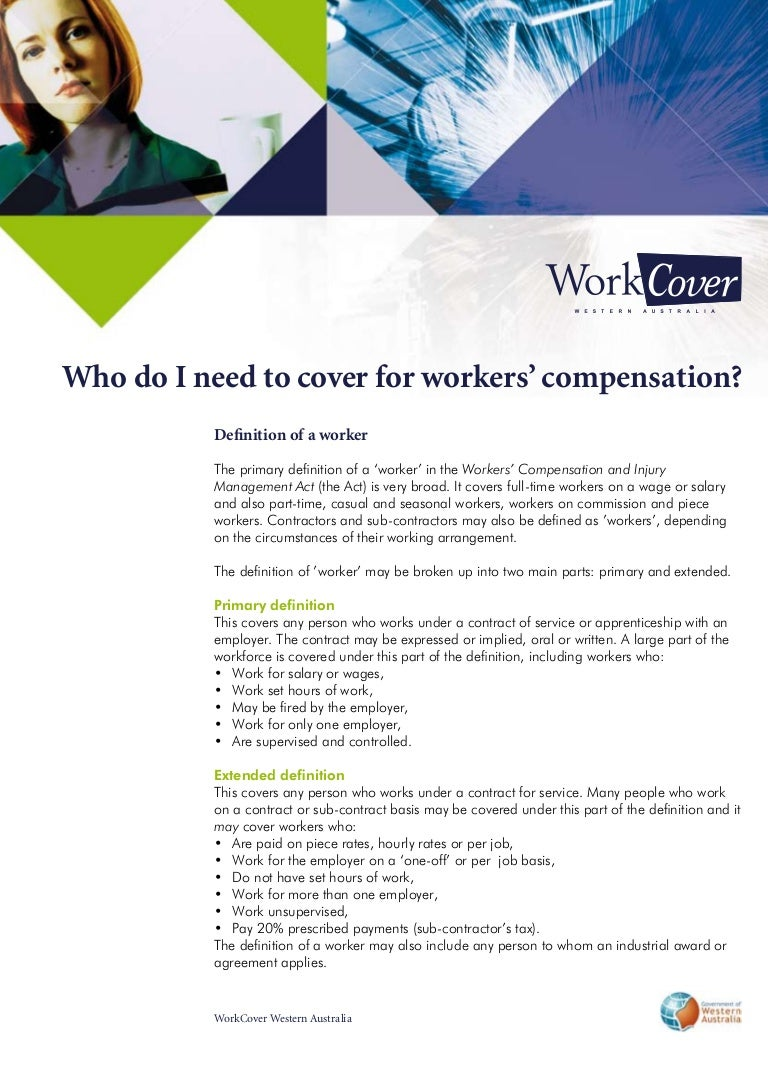 workers compensation, workcover wa brochure