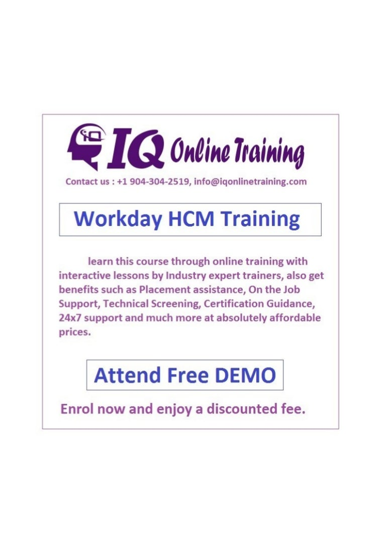 Workday Hcm Training