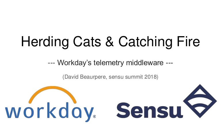 Herding cats & catching fire: Workday's telemetry & middleware