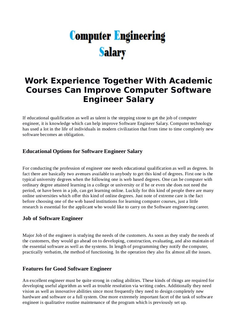 Software systems engineering salary - Software Systems Engineering Salary 41