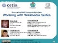 Working with Wikimedia Serbia