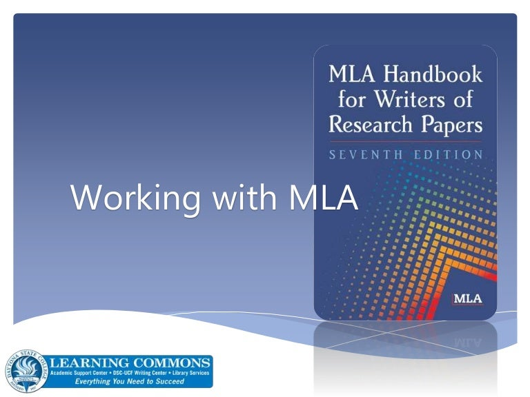 guide mla research papers This is a guide for mla style it is based on the modern language association of america's mla handbook for writers of research papers, seventh edition.