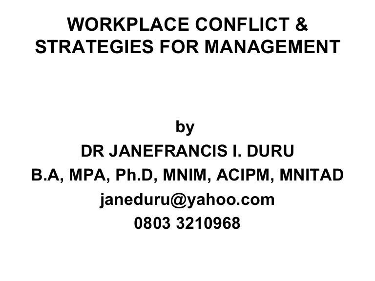 Managing and resolving conflict - Transform Leaders