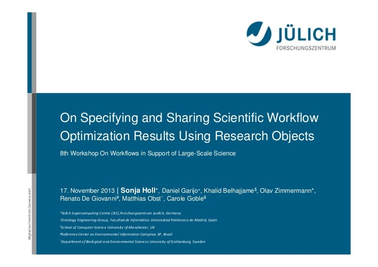 On Specifying and Sharing Scientific Workflow Optimization