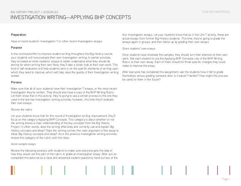 Dissertation investigation