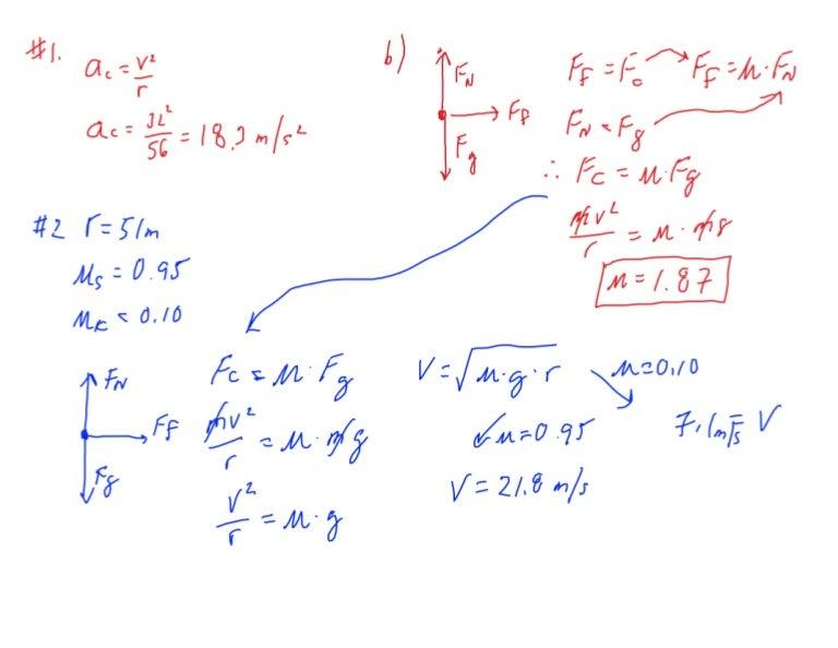 Printables Centripetal Force Worksheet centripetal force worksheet