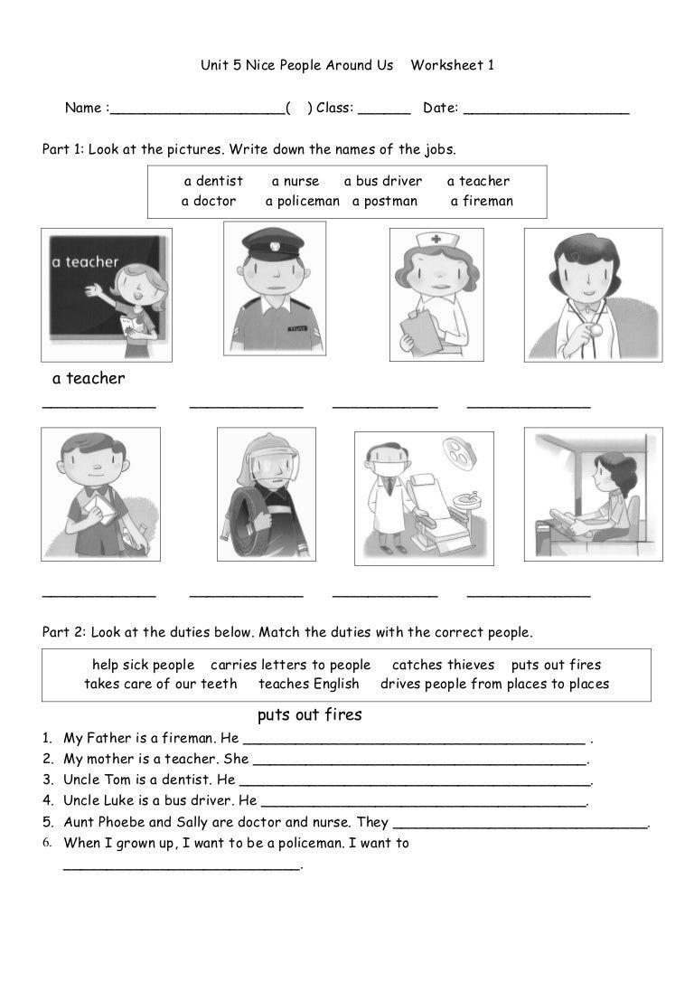 Vocabulary Matching Worksheet - Jobs (1) worksheet - Free ESL ...