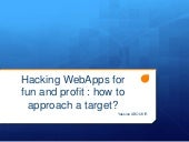 Hacking WebApps for fun and profit : how to approach a target?