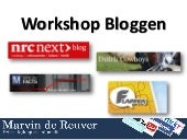 Workshop succesvol bloggen