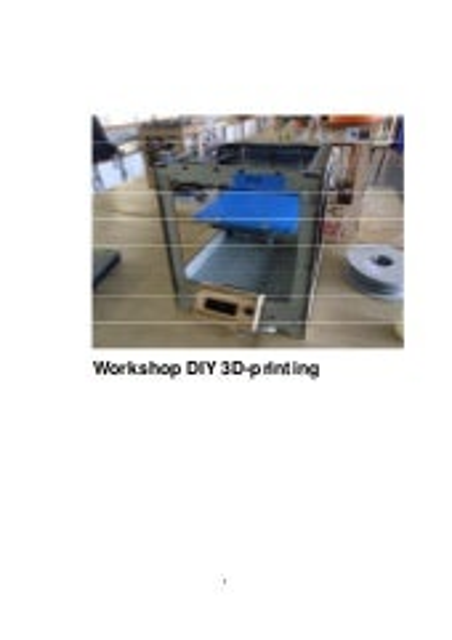 Workshop diy 3 d printing   makerbots 2012
