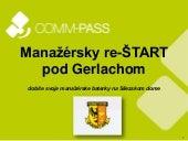 Workshop Manažérsky re-ŠTART pod Gerlachom - INTRO