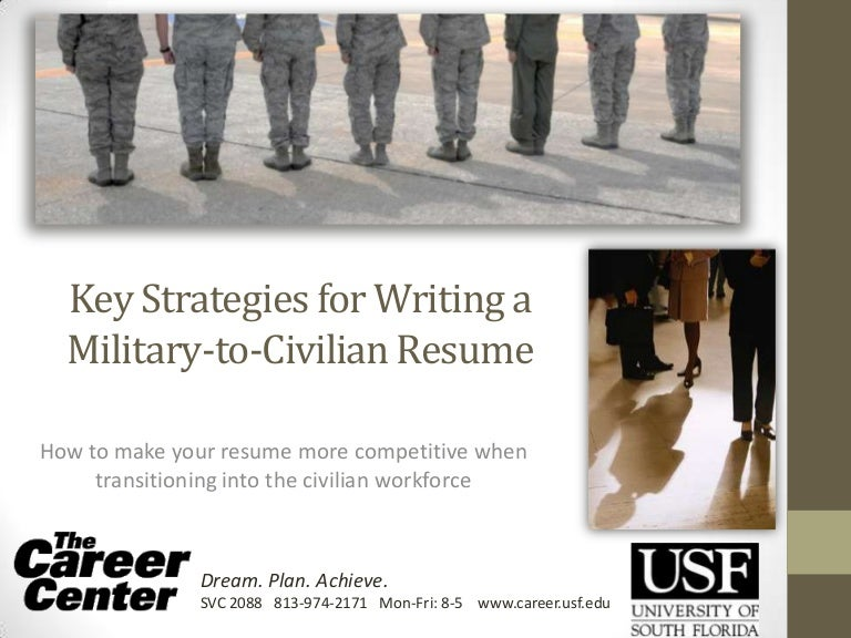 key strategies for writing a military to civilian resume