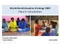 World Bank Education Strategy 2020: Phase 2 of External Consultations