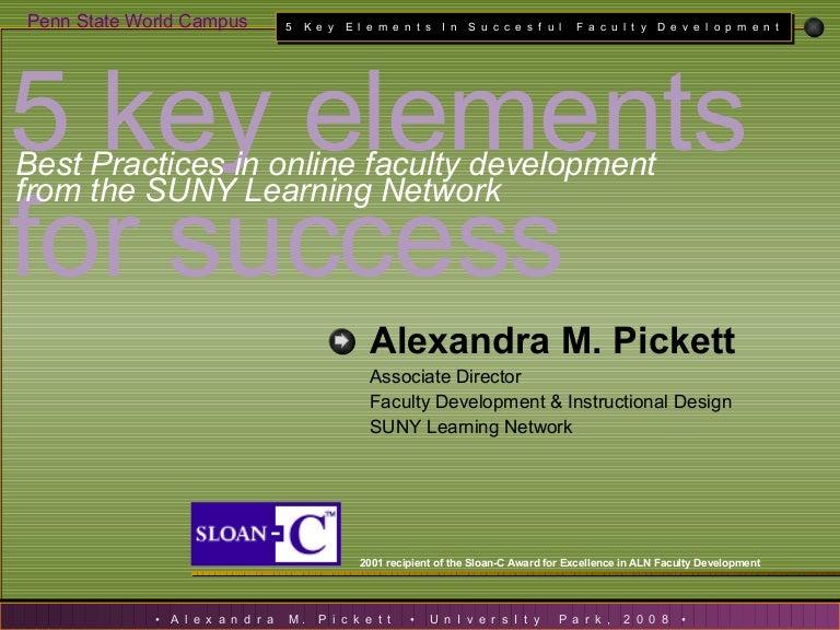 An Overview Of Sln S Award Winning Faculty Development Process 5 Ke