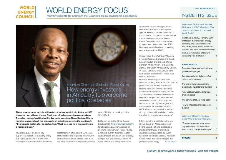 World Energy Focus - Febbraio 2017