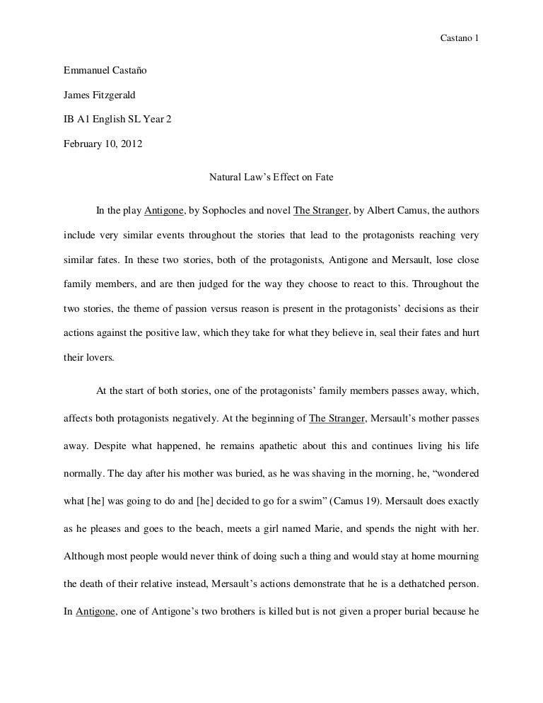 english sl world literature essay