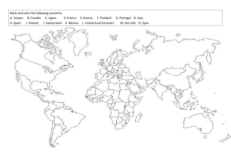 world map worksheet2 Line Map of United Arab Emirates