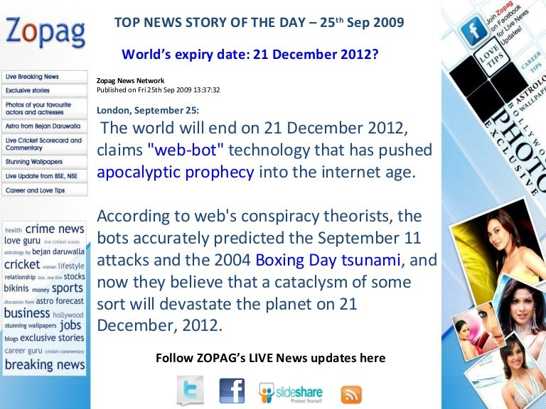 World'S Expiry Date 21 December 2012