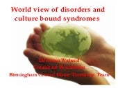 World View of Disorders and Culture Bound Syndromes
