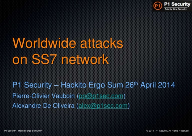 Worldwide attacks on SS7/SIGTRAN network