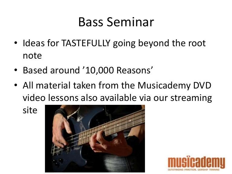 Worship bass: Going Beyond the Root Note. Features the Matt Redman so…