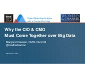Why the CIO & CMO Must Come Together over Big Data