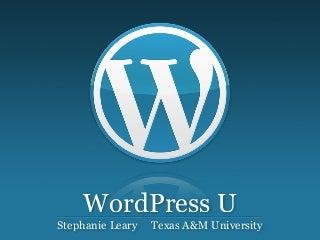 WordPress as a CMS (short version)