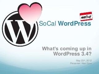 WordPress 3.4 Preview