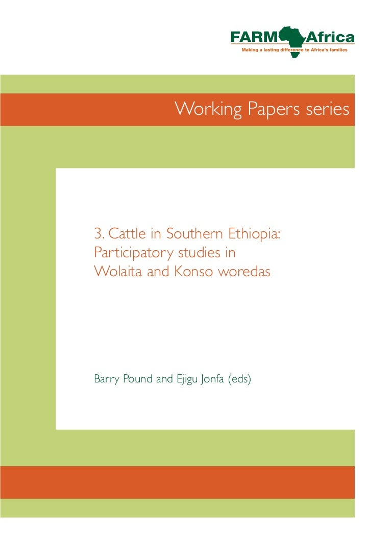 cattle in southern ethiopia participatory studies in wolaita konso