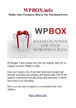 Wpbox p