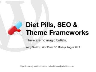 WordPress DC Meetup: Diet Pills/SEO/Theme Frameworks