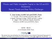 Private and Public Intangible Capital in the US and EU Economies: Recent Trends and New Policy Challenges