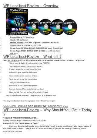 Wp localhost review