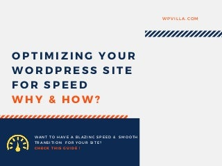 Guide to WordPress Speed Optimization by WP Villa