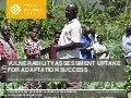 Vulnerability Assessment Uptake for Adaptation Success