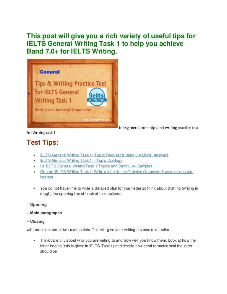 How to write a semi-formal letter for IELTSG Task 1