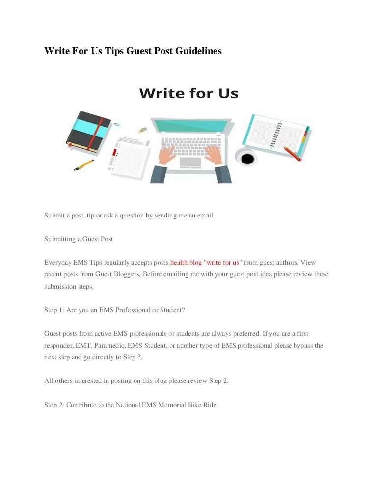Write for us tips guest post guidelines