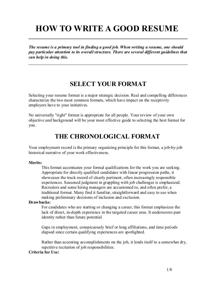 SlideShare  How To Format Your Resume