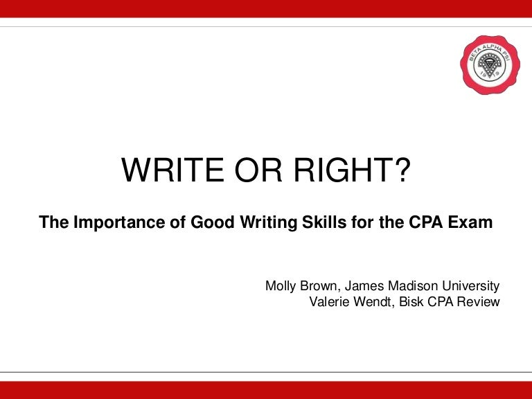 write or right writing skills for the cpa exam