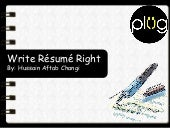 Write Resume Right