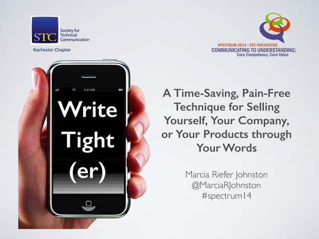 Write Tight(er)—STC Spectrum14