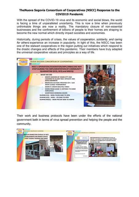 The Nueva Segovia Consortium of Cooperatives (NSCC) Response to the COVID19 Pandemic