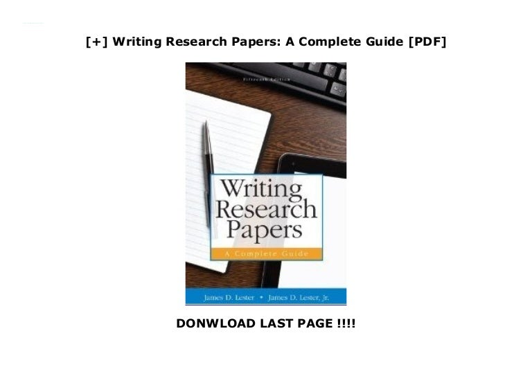 Writing research papers james d lester pdf do my physics speech