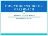 Nature and Process of Research