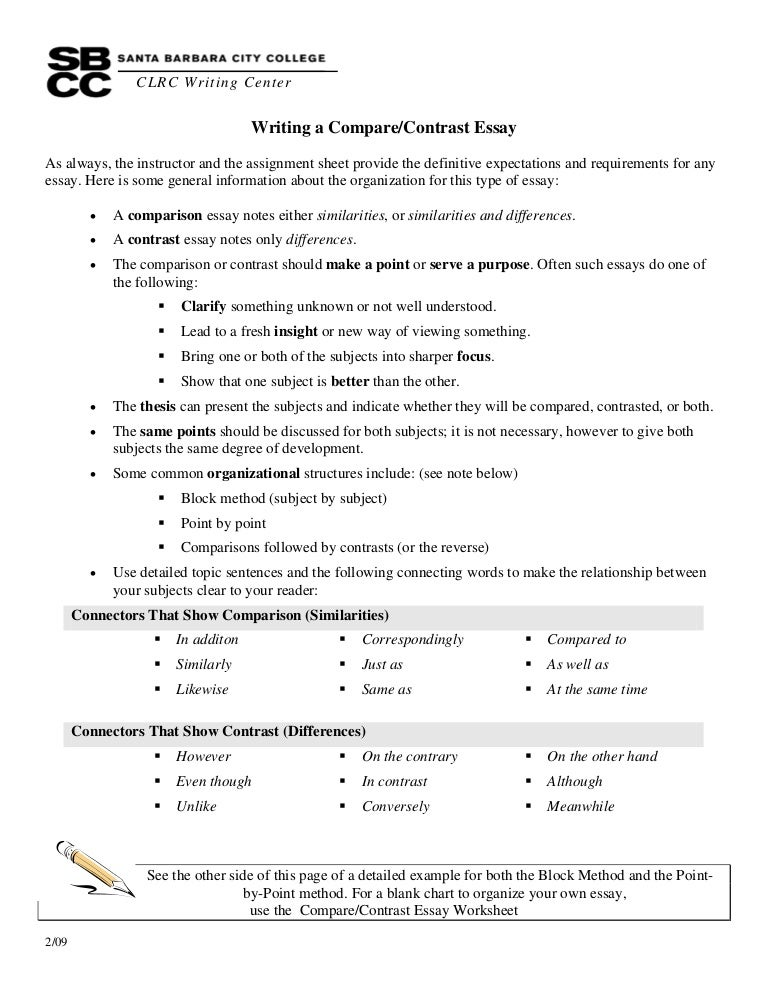 compare contrast essay using point point method Point-by-point compare and contrast essay sample guide alligators and crocodiles a journey back into prehistoric times is only as far away as the local zoo.