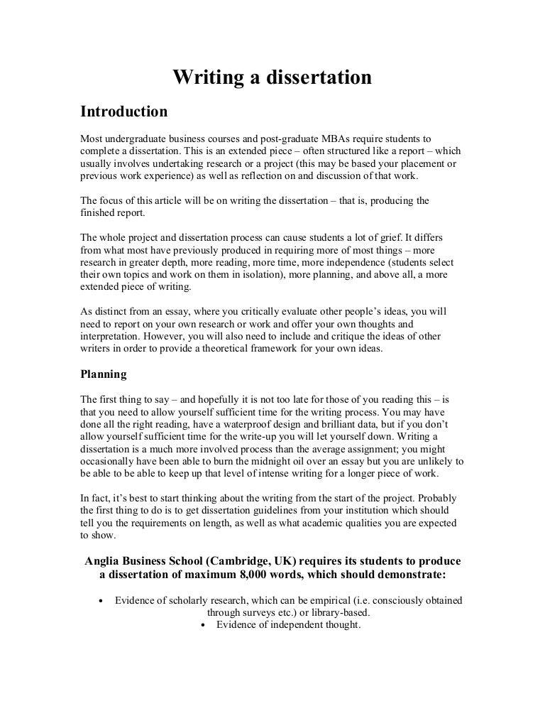 Library based dissertation