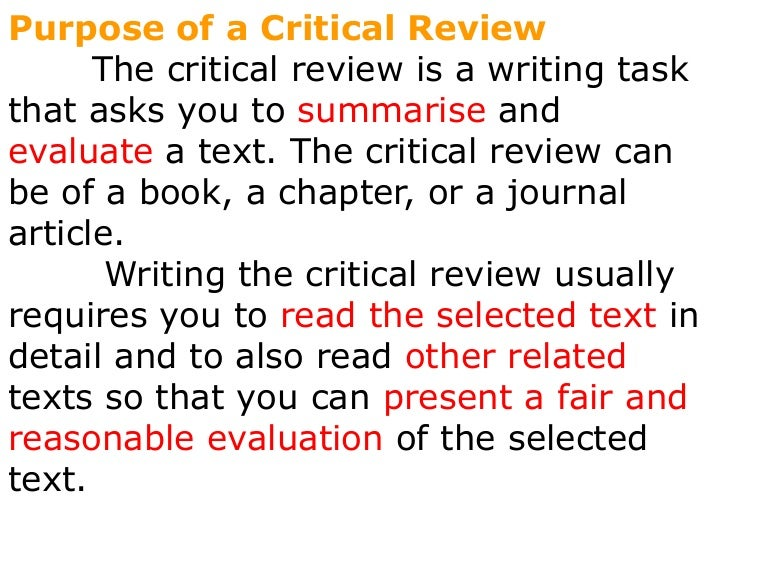 critical book review examples